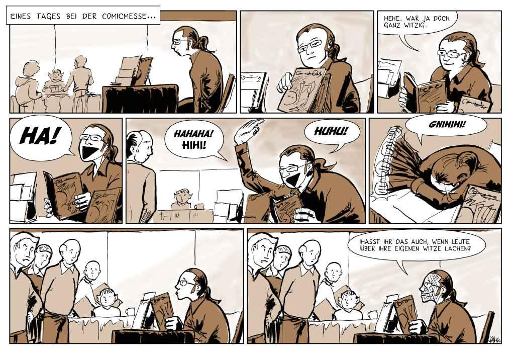 Eines Tages, bei der Comicmesse